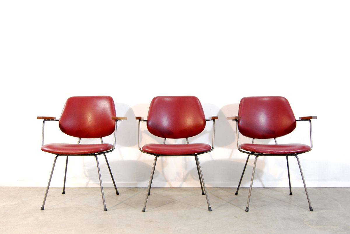 Industrial red skai dining chair 1970s for sale at pamono for Red dining chairs for sale