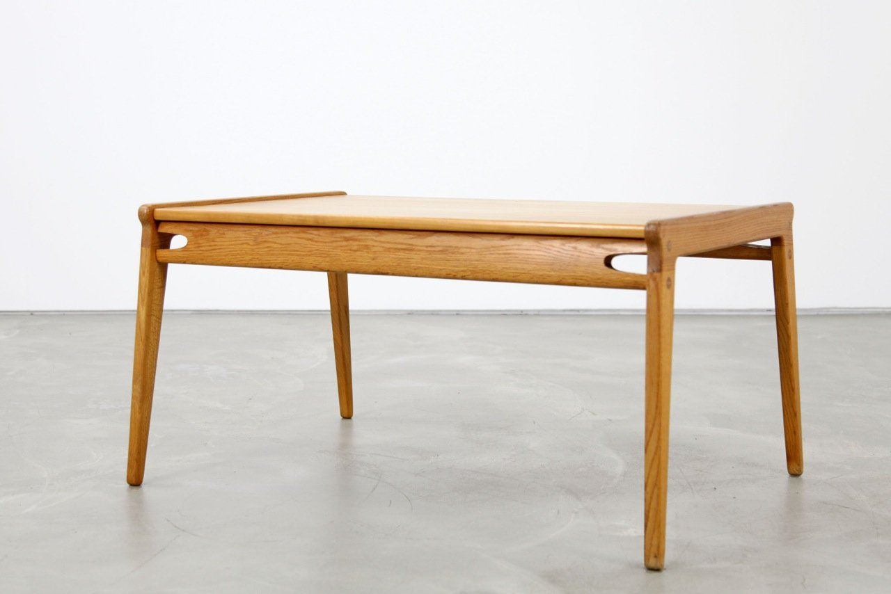 mid-century oak coffee table, 1950s for sale at pamono