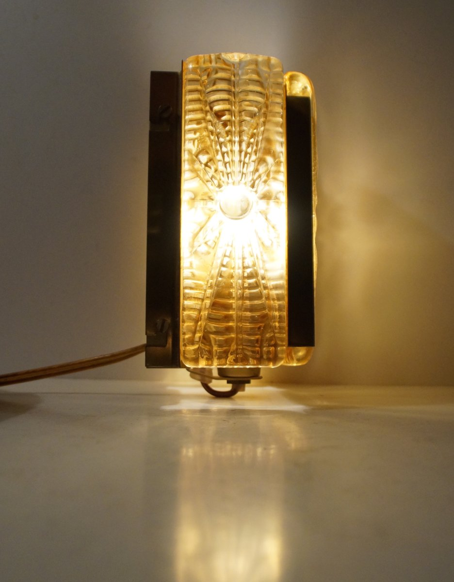 Aladdin amber glass brass wall sconce from vitrika 1960s for aladdin amber glass brass wall sconce from vitrika 1960s geotapseo Image collections
