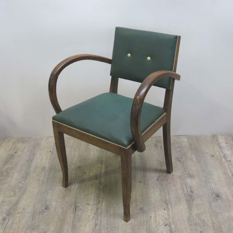 art deco skai armlehnstuhl 1930er bei pamono kaufen. Black Bedroom Furniture Sets. Home Design Ideas