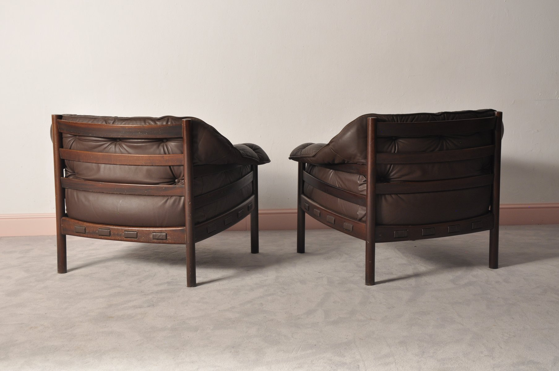 Rosewood Club Chairs by Arne Norell for Coja 1960s Set of 2 for