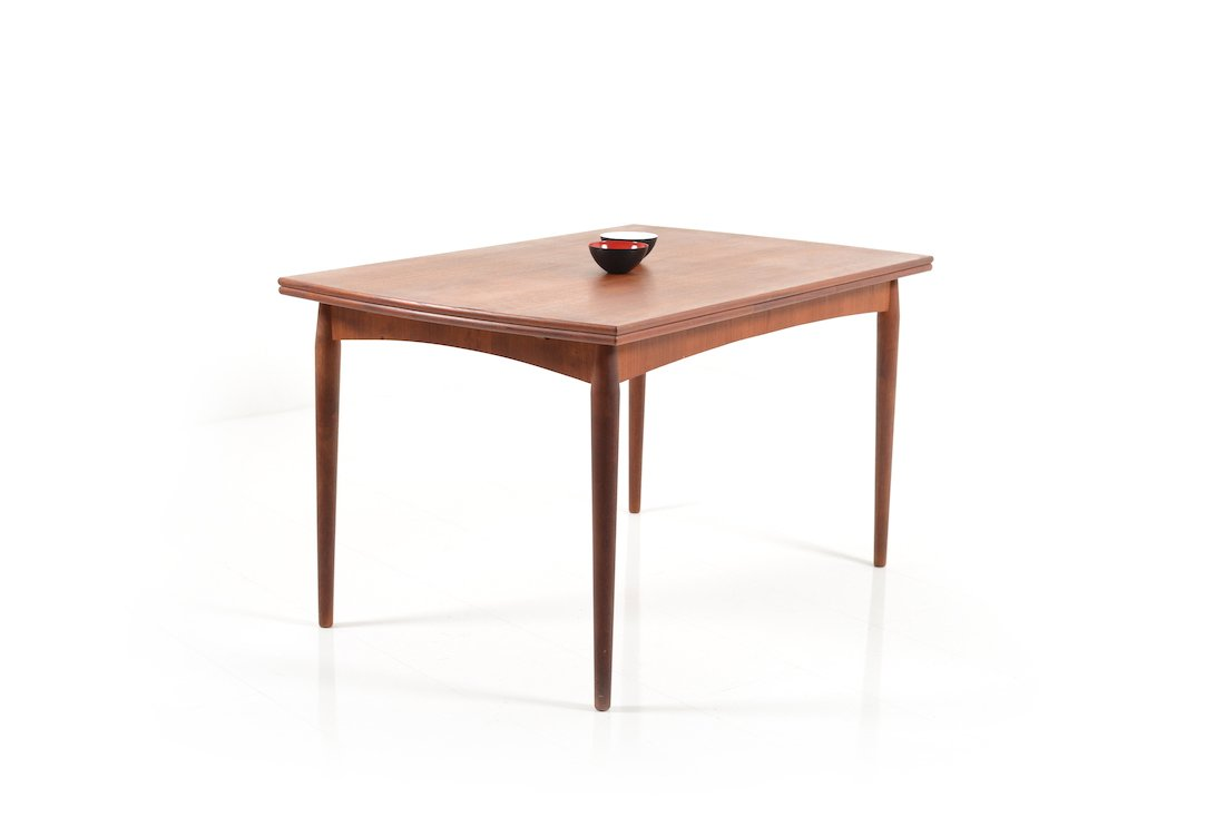 Extendable Danish Teak Dining Table 1950s For Sale At Pamono