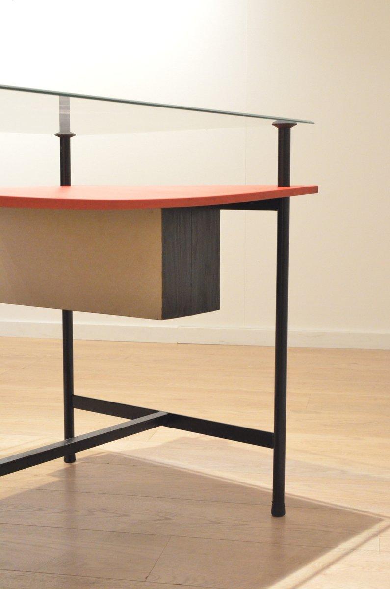 Bureau constructiviste en bois m tal et en verre france 1950s en vente sur - Bureau metal et verre ...