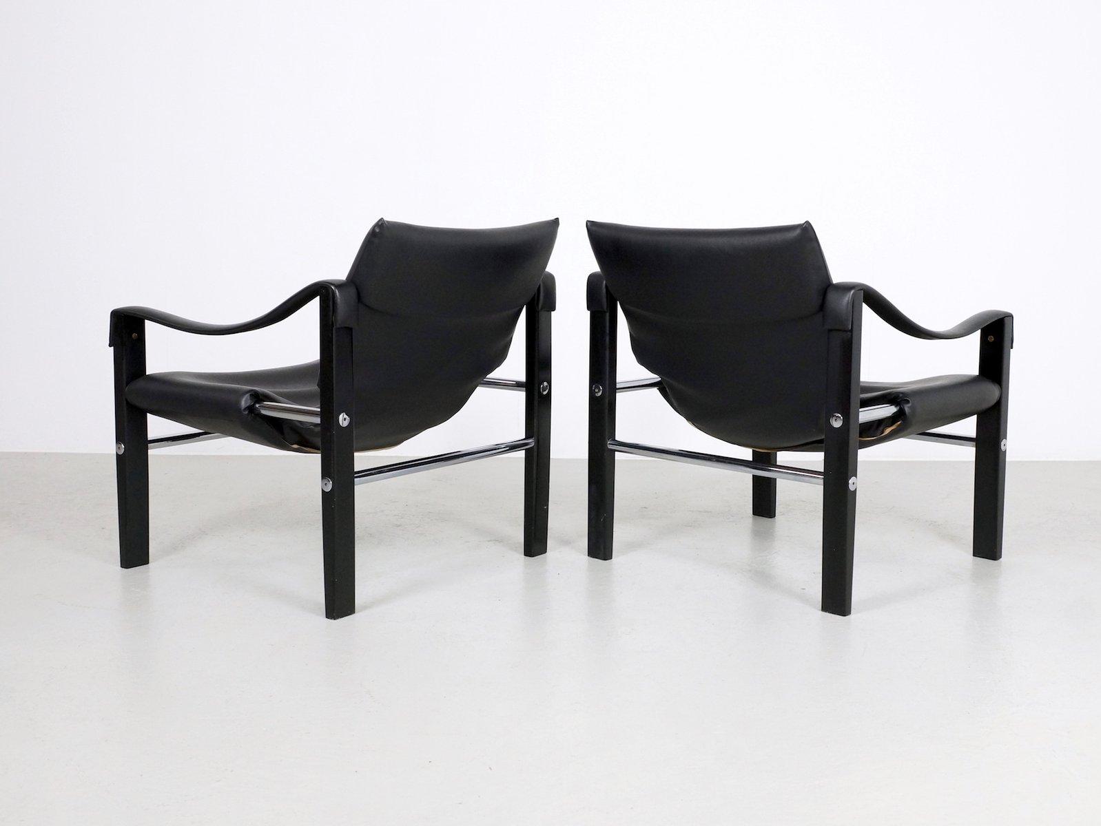 schwarze chelsea st hle von maurice burke f r arkana 2er set bei pamono kaufen. Black Bedroom Furniture Sets. Home Design Ideas