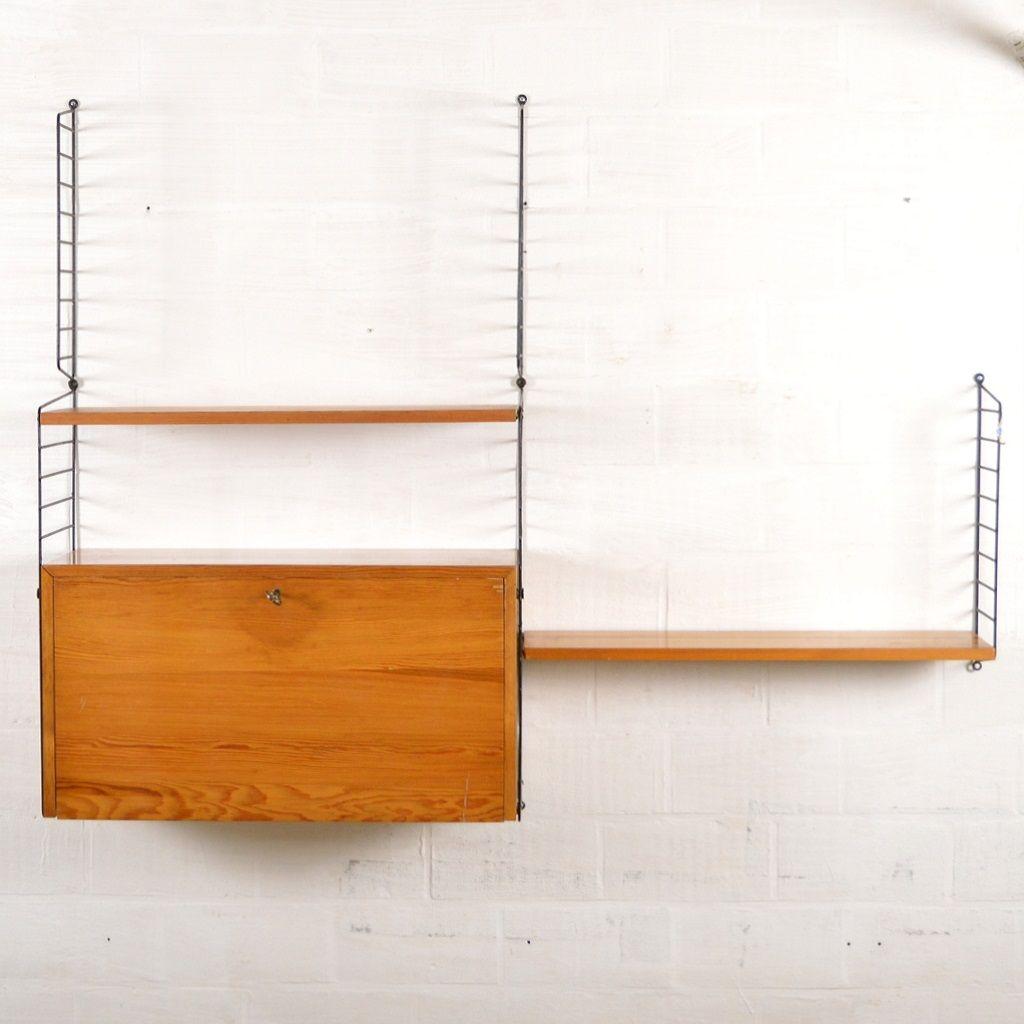 vintage wandregal von nisse strinning bei pamono kaufen. Black Bedroom Furniture Sets. Home Design Ideas