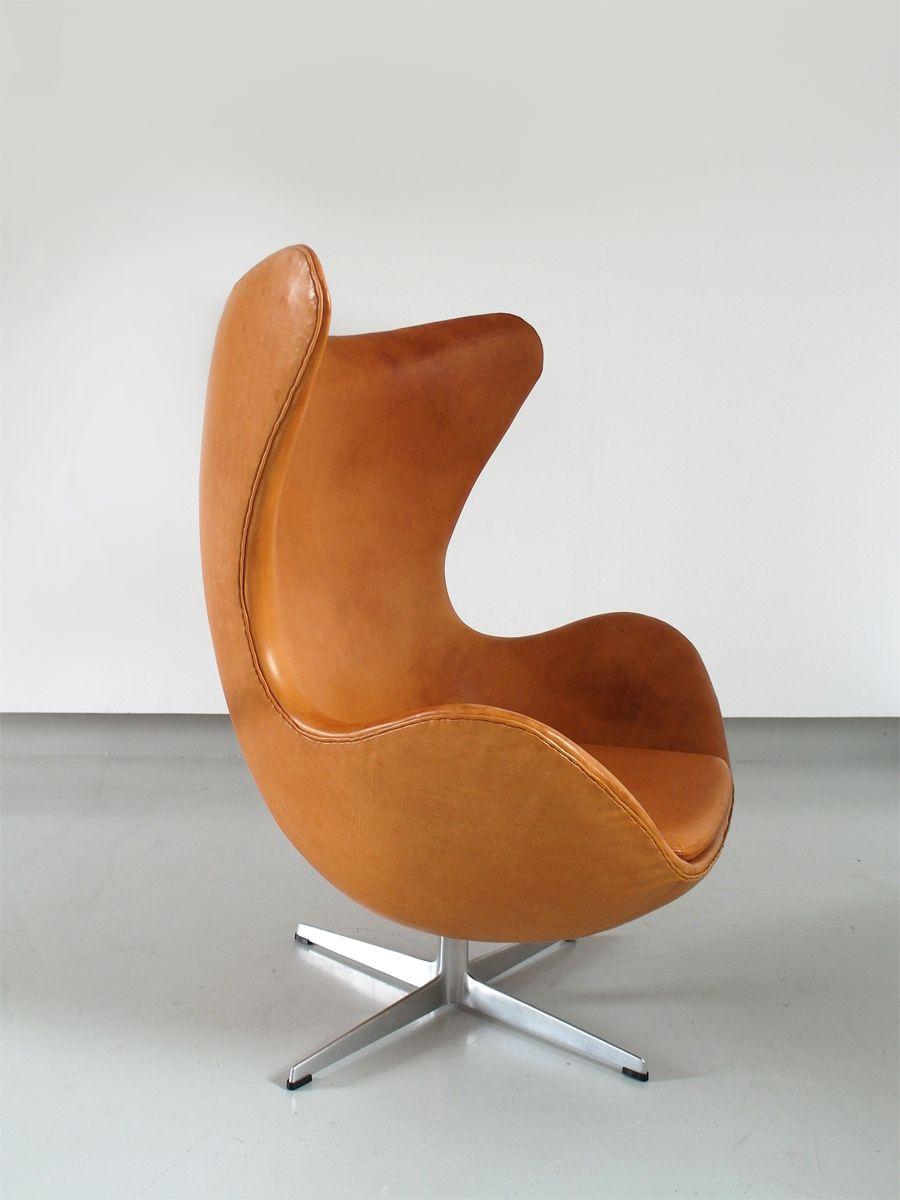 egg chair von arne jacobsen f r fritz hansen 1966 bei. Black Bedroom Furniture Sets. Home Design Ideas