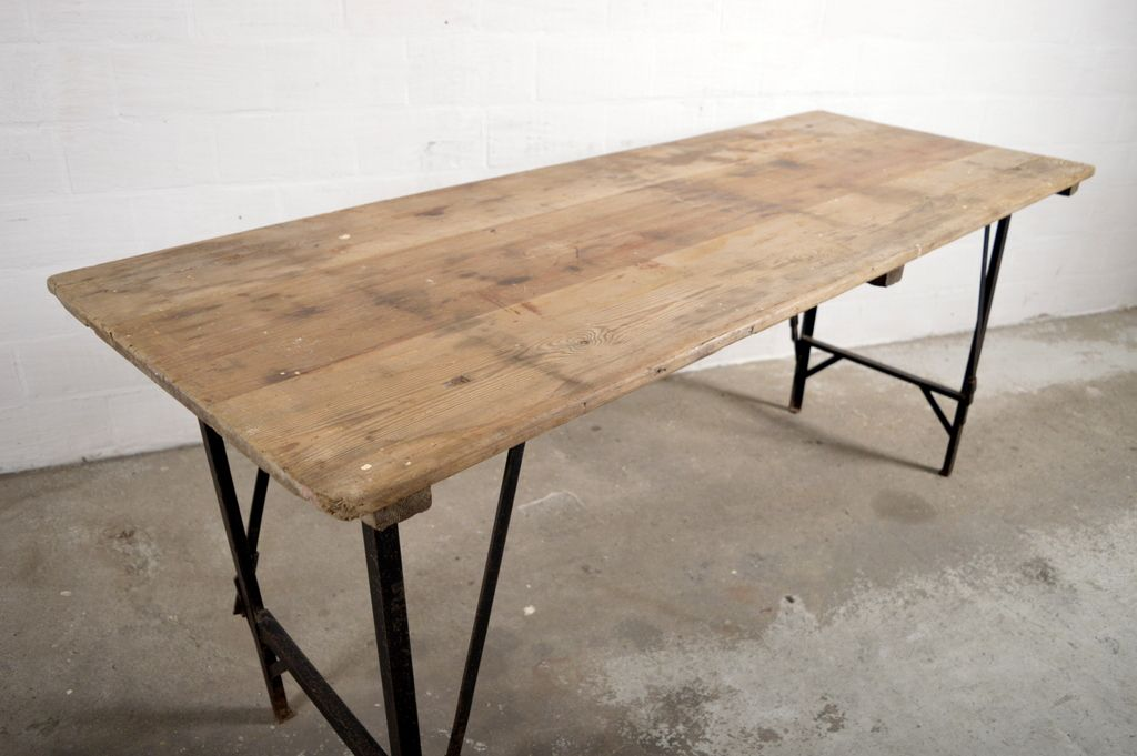 Vintage Industrial Folding Table For Sale At Pamono