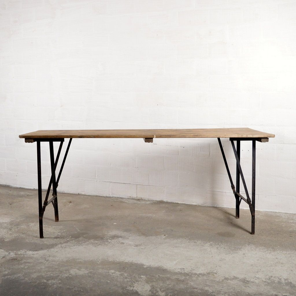Attractive Vintage Industrial Folding Table