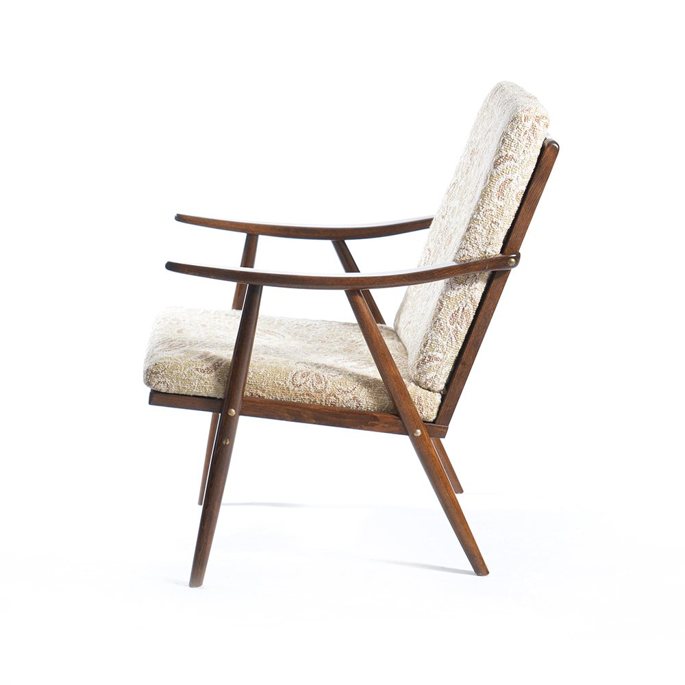 Mid century easy chair from ton for sale at pamono for Z chair mid century