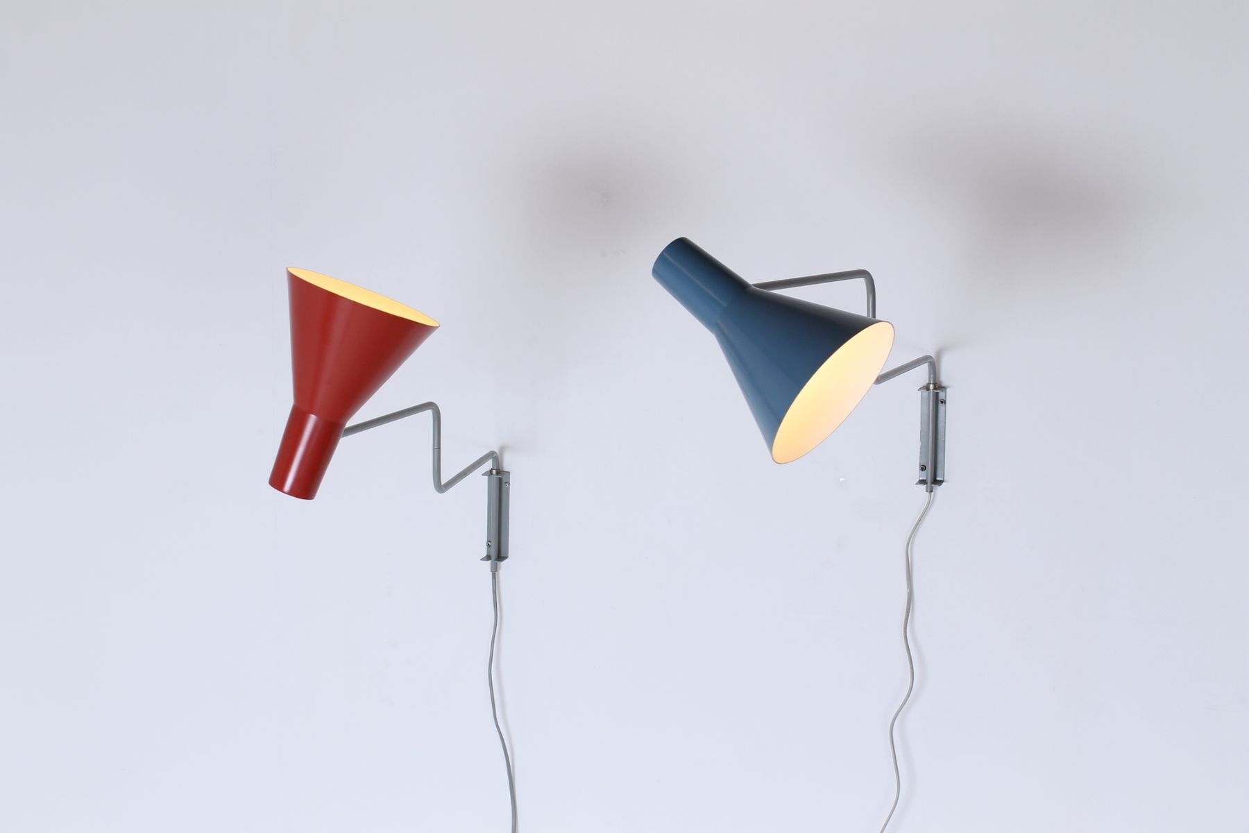 Vintage Elbow Articulated Wall Lights by Hoogervorst for Anvia, Set of 2 for sale at Pamono