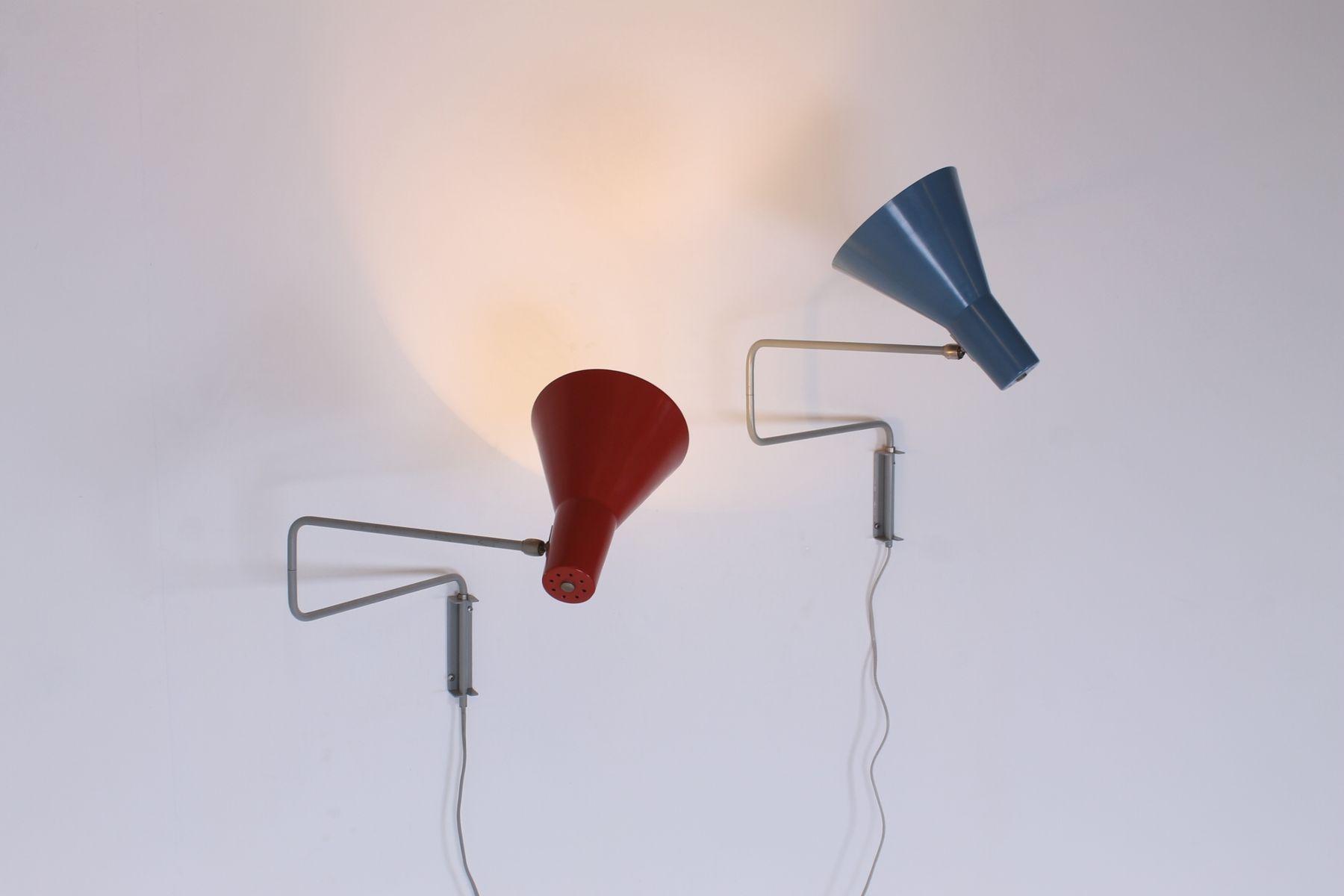 Lampes murales avec bras articul vintage par hoogervorst for Lampes murales exterieures pour terrasse