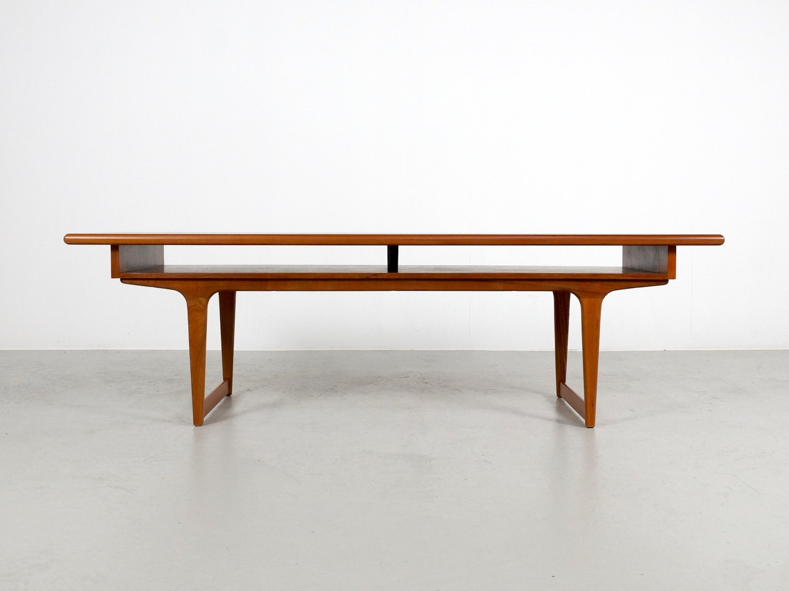 large teak danish coffee table, 1960s for sale at pamono