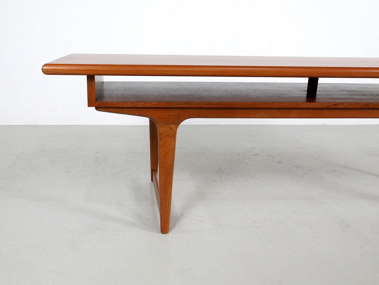 Large teak danish coffee table 1960s for sale at pamono for 1 1 table