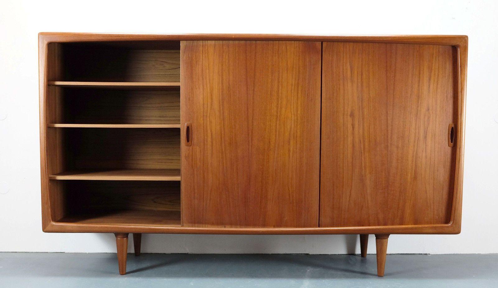 Vintage Danish Modern Teak Credenza from H  P  Hansen for sale at Pamono