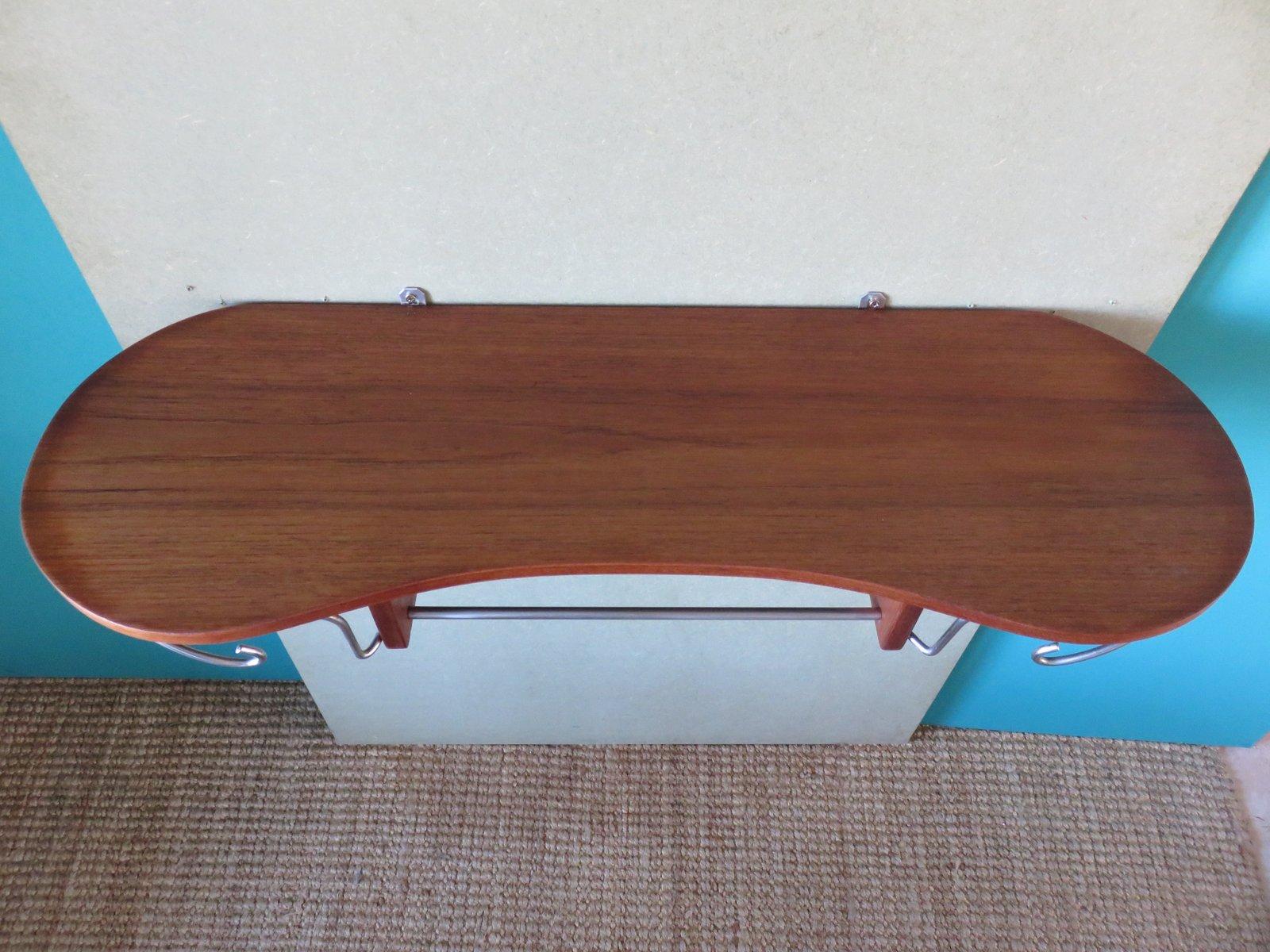 d nische vintage teak garderobe mit hutablage bei pamono kaufen. Black Bedroom Furniture Sets. Home Design Ideas