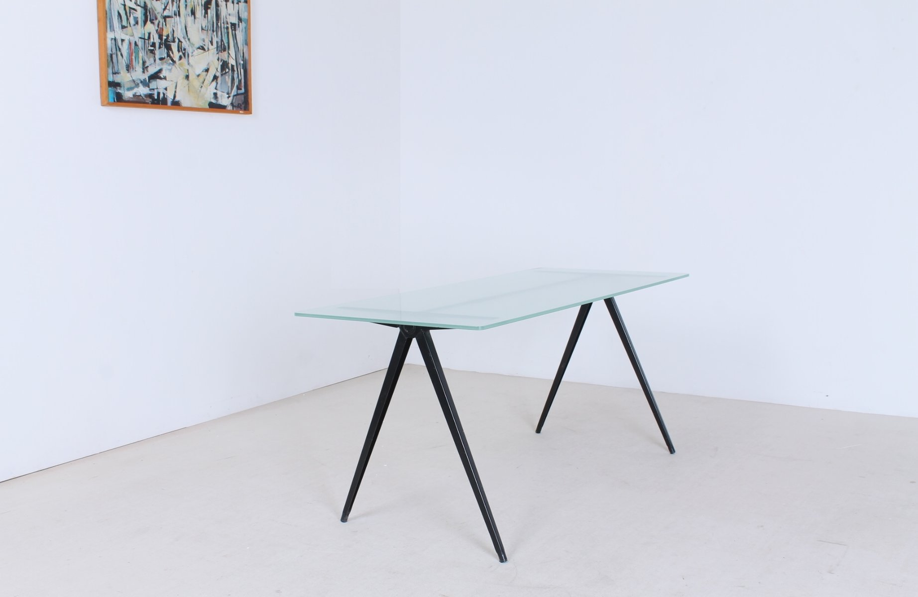 Black pass Pyramid Base Coffee Table from Marko 1960s for sale
