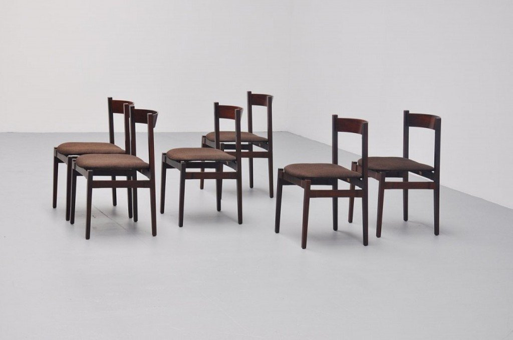 Model 104 Dining Chairs By Gianfranco Frattini For Cassina, 1960s, Set Of 6