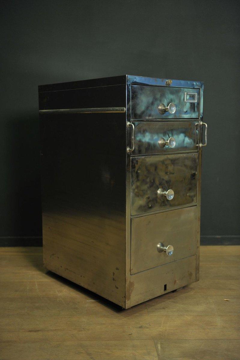 Vintage edelstahl kommode auf rollen bei pamono kaufen for Retro kommode