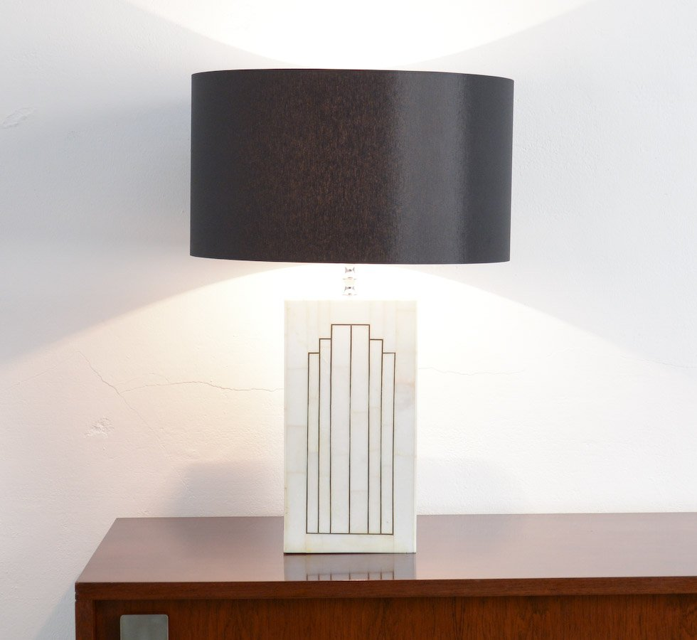 Lampada da tavolo vintage geometrica in marmo in vendita - Lampada da tavolo vintage ...