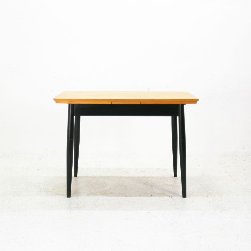 Extendable Scandinavian Ash Dining Table 1960s For Sale