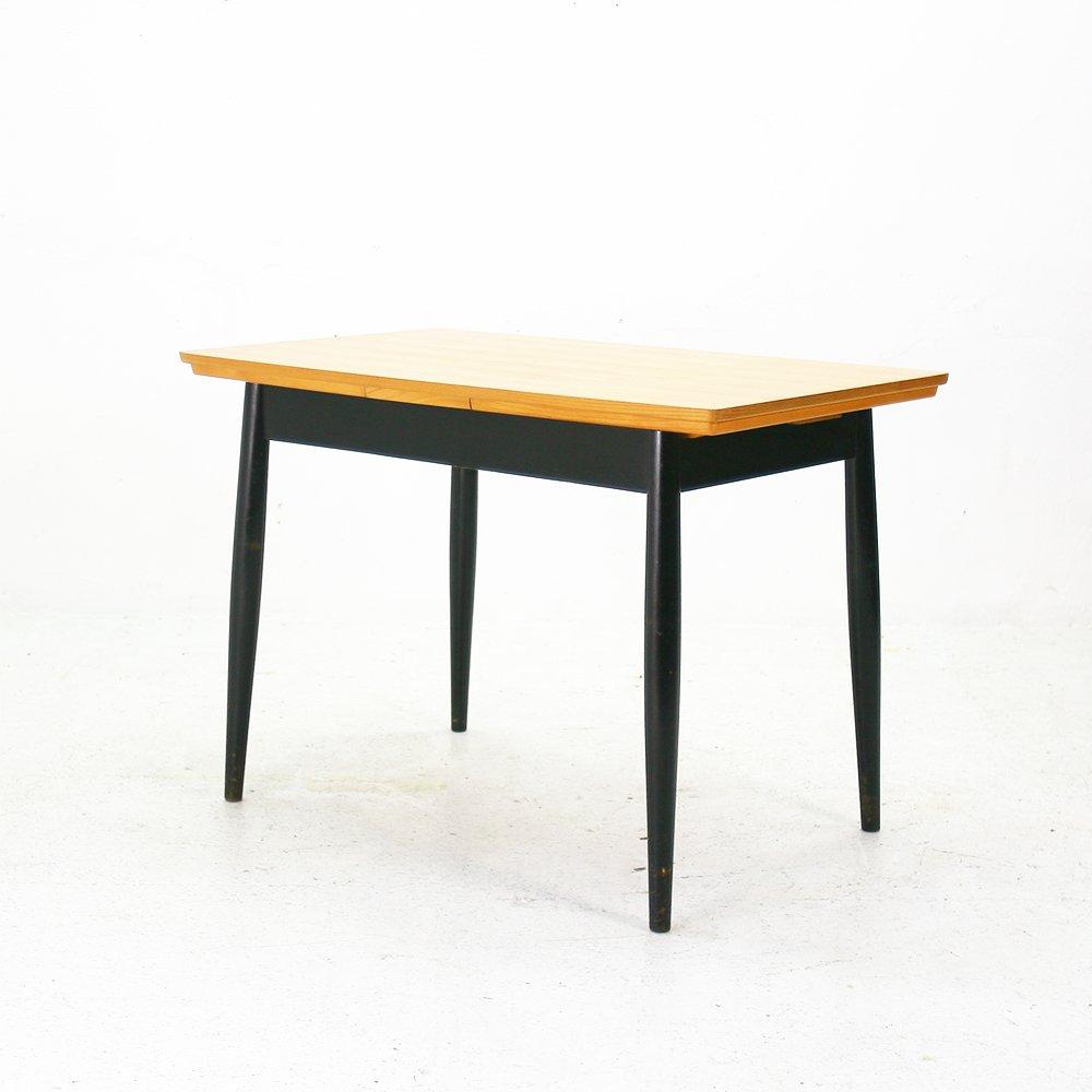 ausziehbarer skandinavischer esche esstisch 1960er bei pamono kaufen. Black Bedroom Furniture Sets. Home Design Ideas