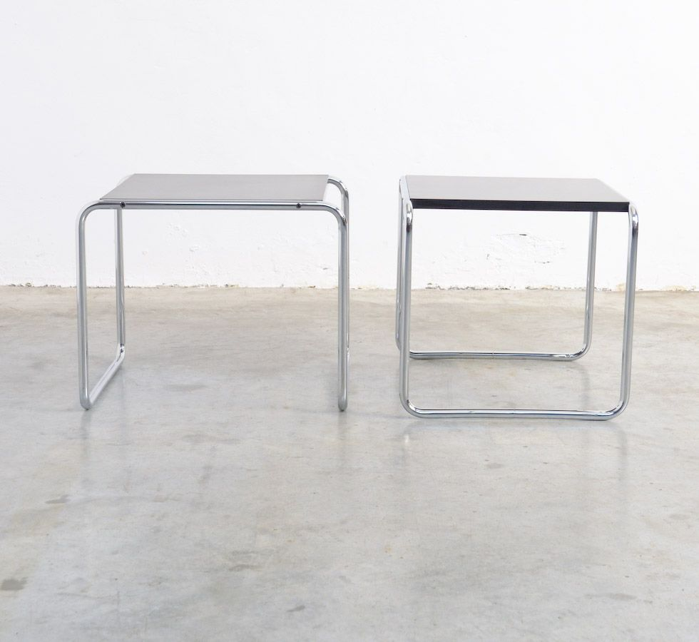 Set of 2 quot lacio 1 and 2 quot coffee tables marcel breuer 1960s vintage laccio side tables by marcel breuer for gavina set of 2 for geotapseo Images
