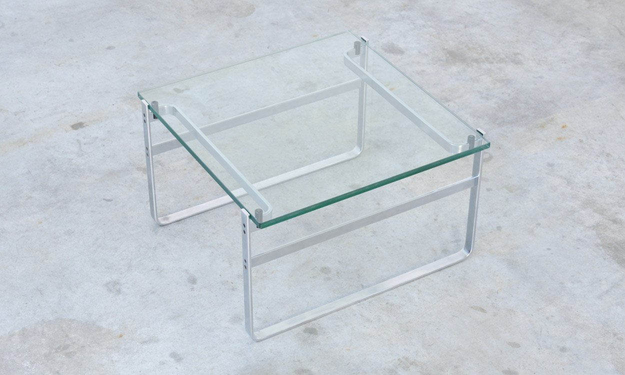 Glass Coffee Table 700 by Preben Fabricius for sale at Pamono
