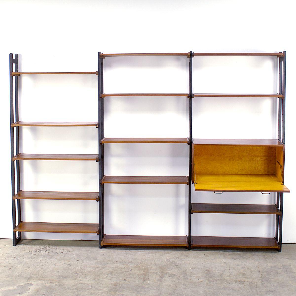 modulares regalsystem aus teakholz von simplalux 1960er. Black Bedroom Furniture Sets. Home Design Ideas