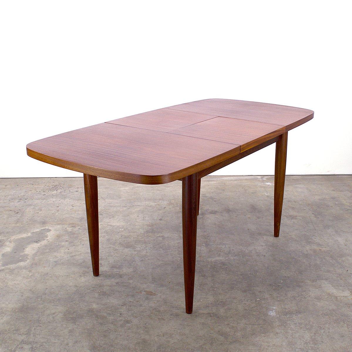 ausziehbarer teakholz esstisch von farstrup 1960er bei. Black Bedroom Furniture Sets. Home Design Ideas