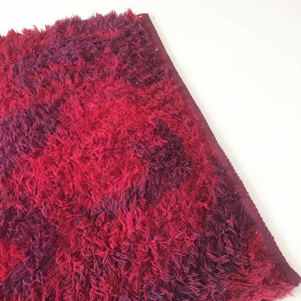 danish rya shag rug by lyng taepper 1970s