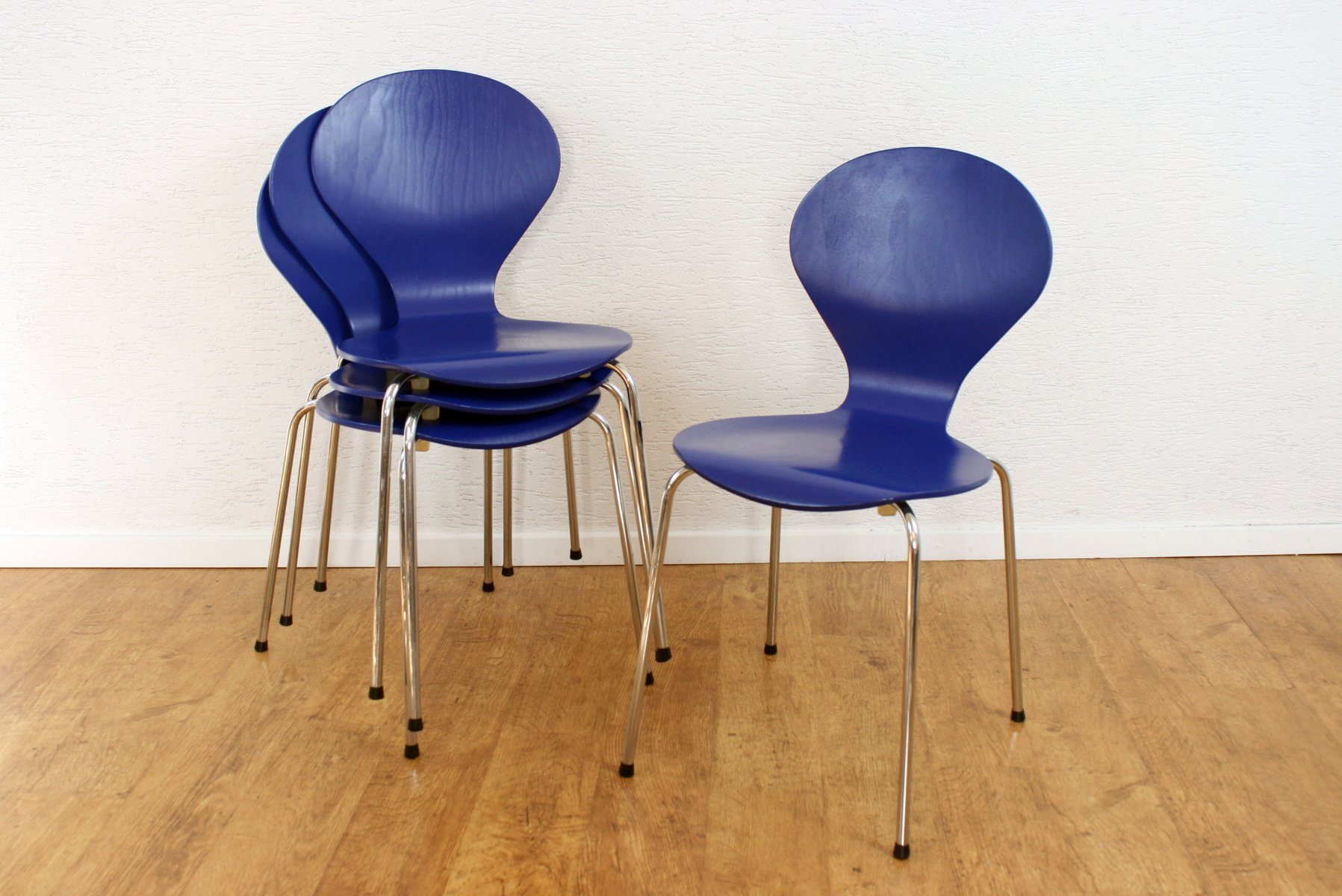 Vintage Danish Rondo Chairs By Erik J Rgensen For Phoenix Set Of 4 For Sale