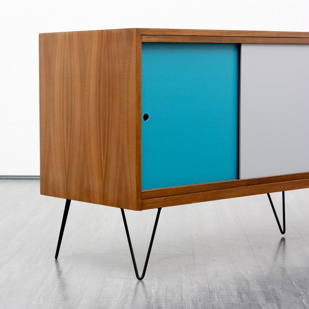gro es sideboard mit farbiger fassade 1960er bei pamono kaufen. Black Bedroom Furniture Sets. Home Design Ideas