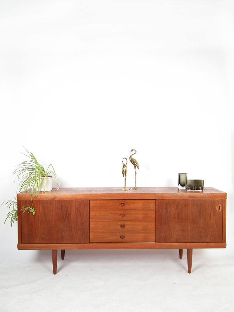 mid century sideboard by henry w klein for bramin for sale at pamono. Black Bedroom Furniture Sets. Home Design Ideas