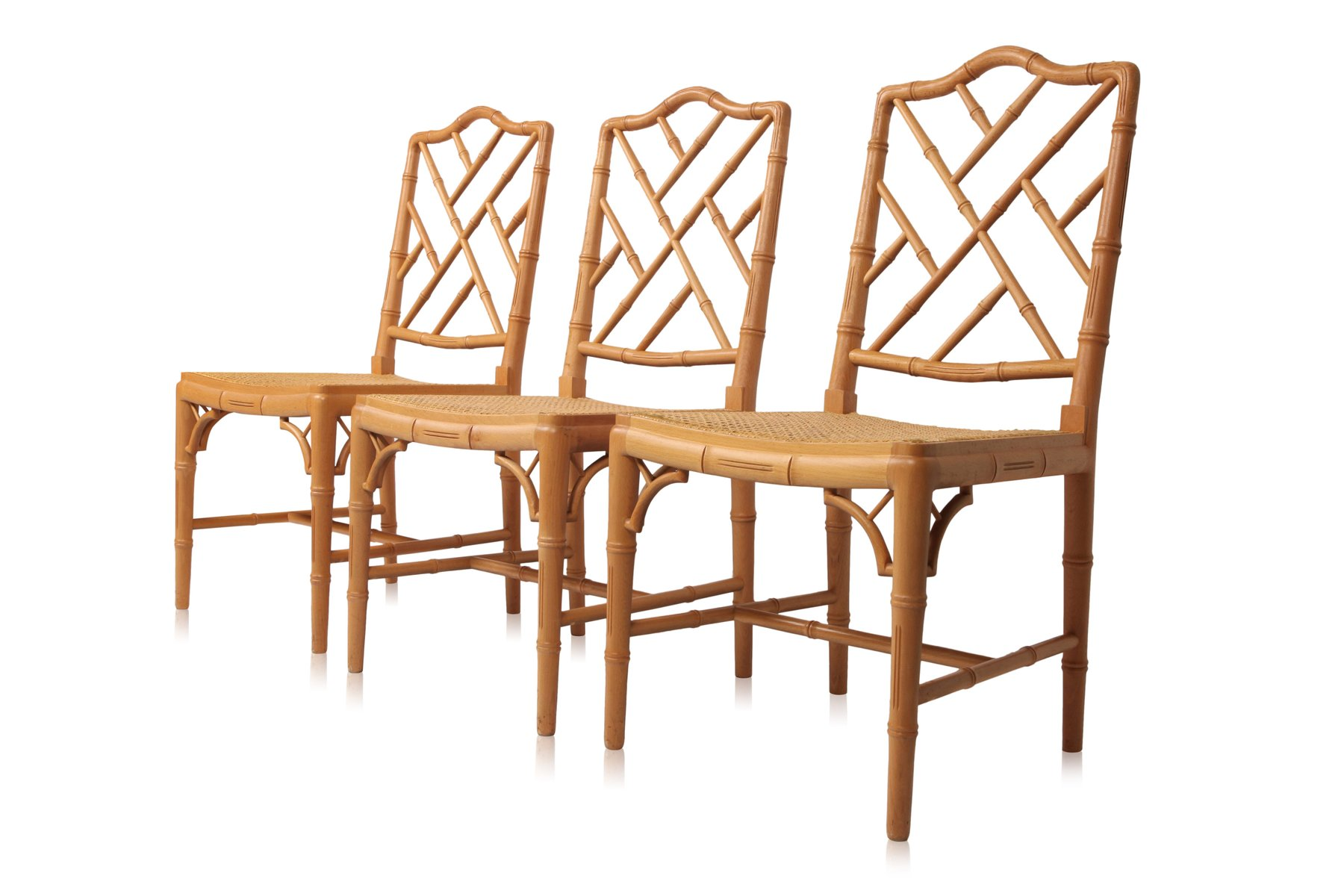 French bamboo dining chairs 1980s set of 6 for sale at for 1980s chair