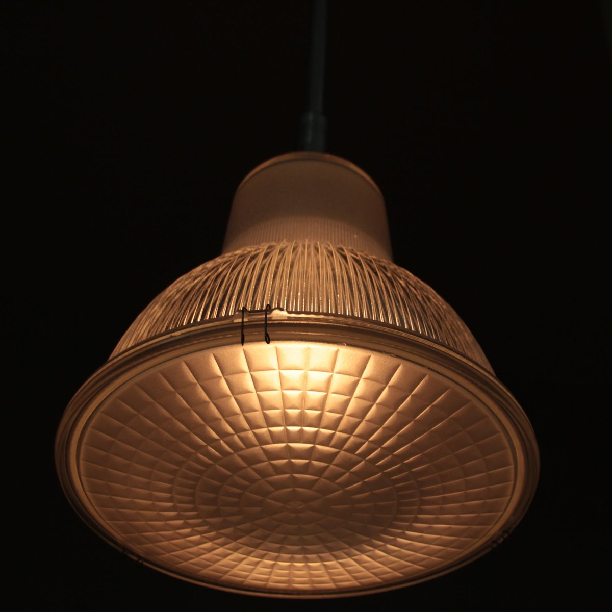 Vintage Industrial French Pendant Light From Holophane For