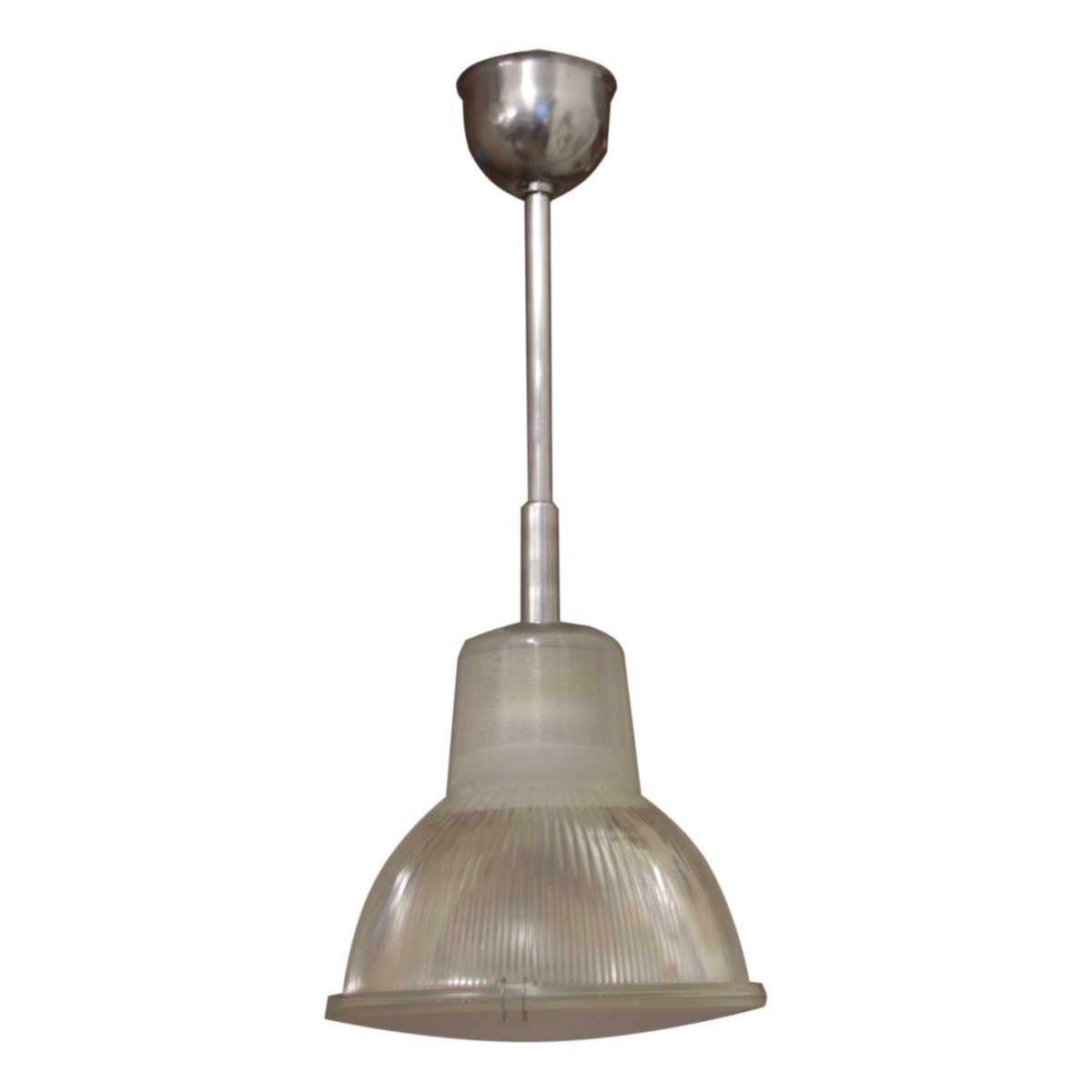 lampe suspension vintage industrielle de holophane france en vente sur pamono. Black Bedroom Furniture Sets. Home Design Ideas