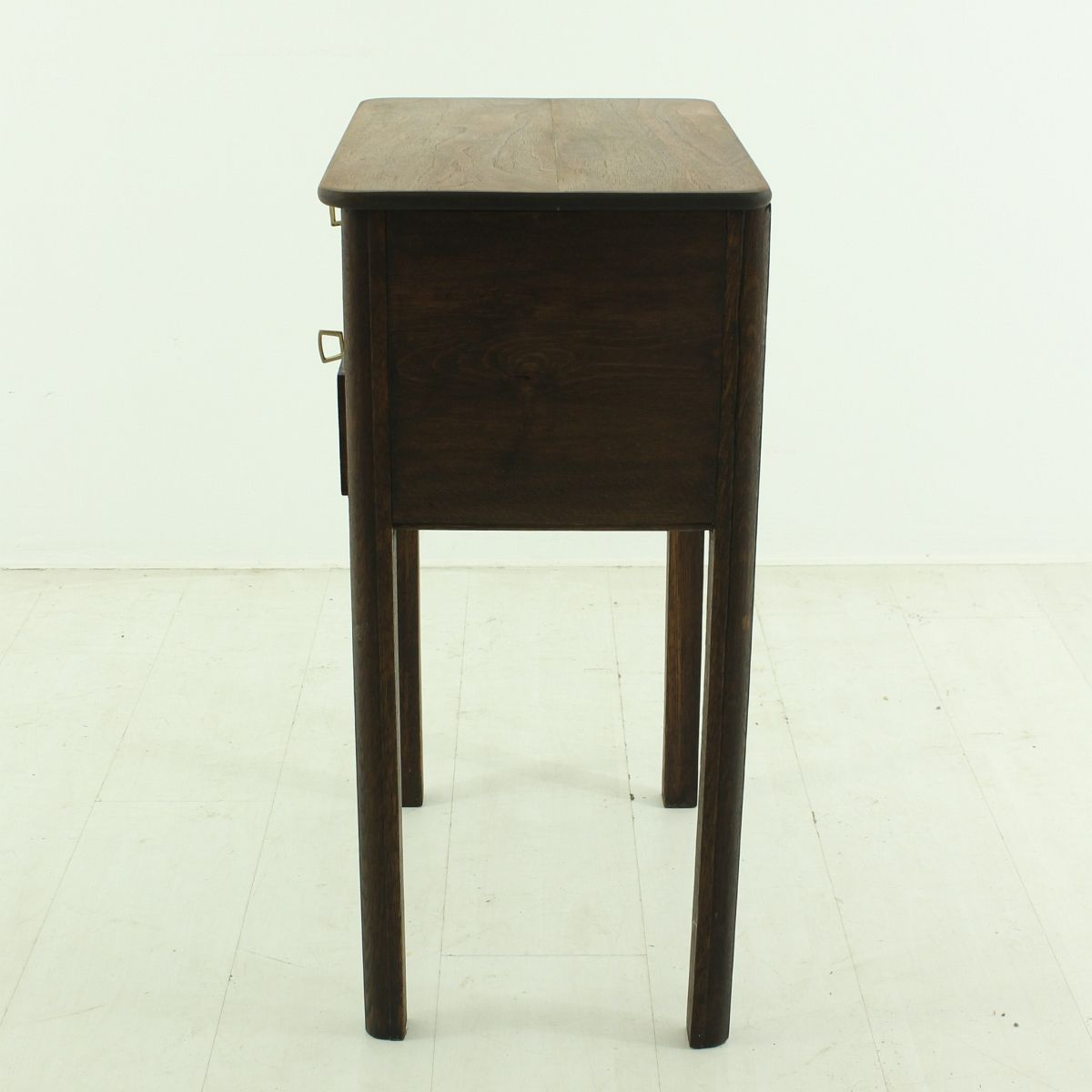 Vintage oak walnut side table 1930s for sale at pamono for Walnut side table