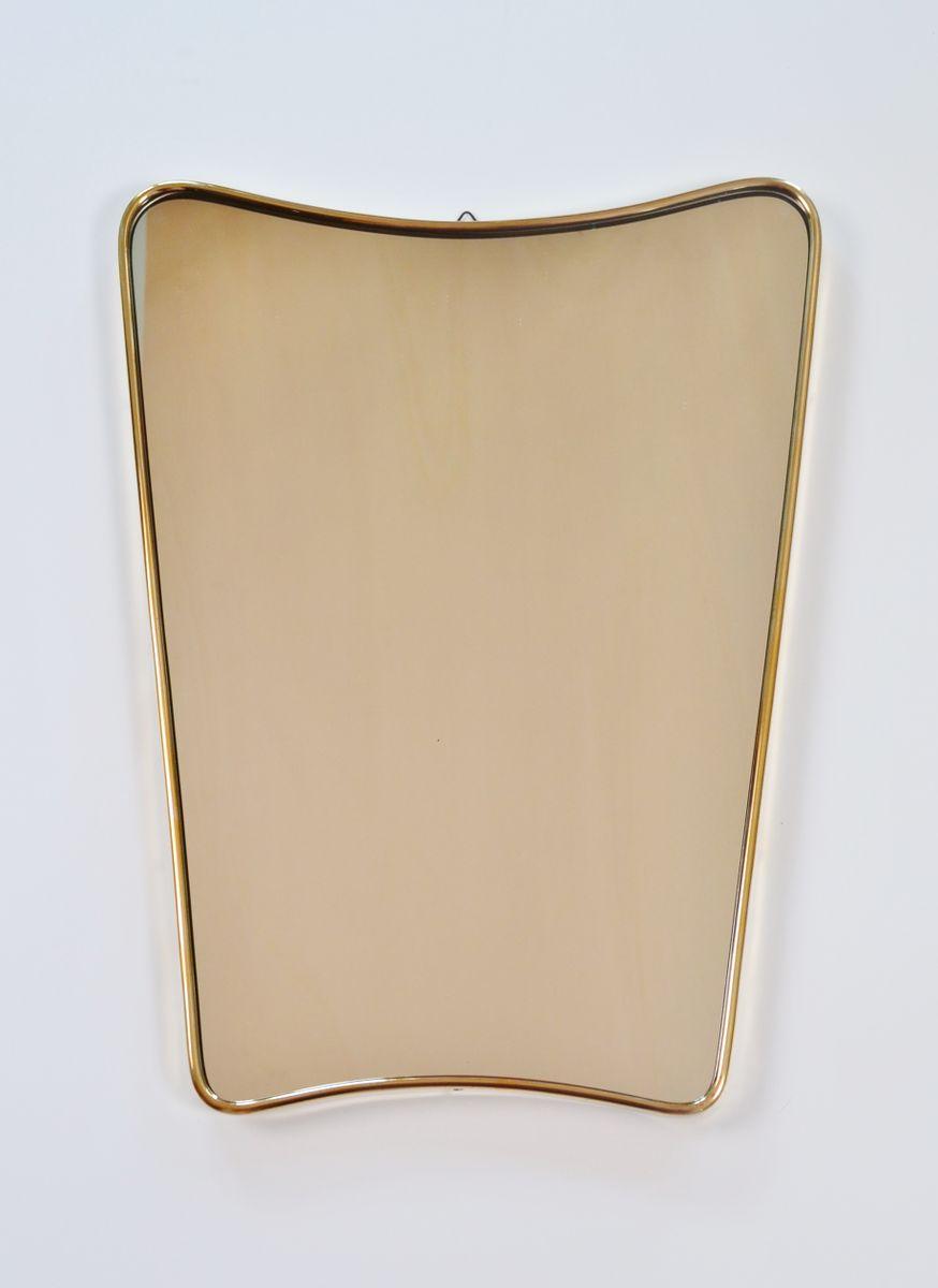 Italienischer spiegel mit messingrahmen 1950er bei pamono for Spiegel mit messingrahmen
