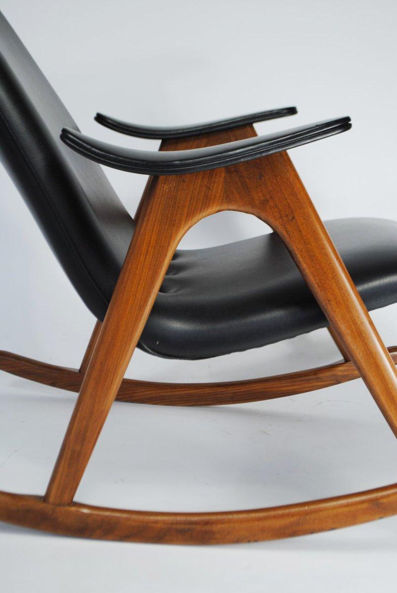 schaukelstuhl von louis van teeffelen f r webe 1960er bei. Black Bedroom Furniture Sets. Home Design Ideas