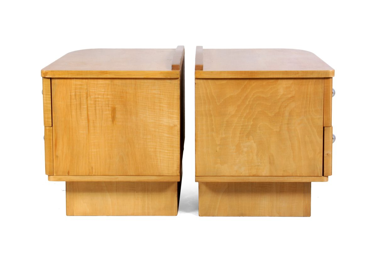 Meubles de chevet art d co scandinaves 1930s set de 2 en - Meuble de chevet ...