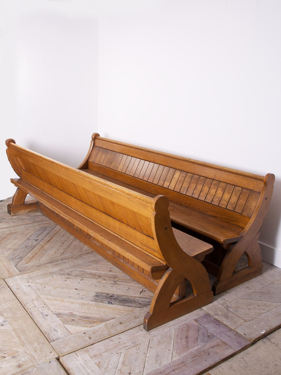 Antique Church Pews 1900s Set Of 2 For Sale At Pamono