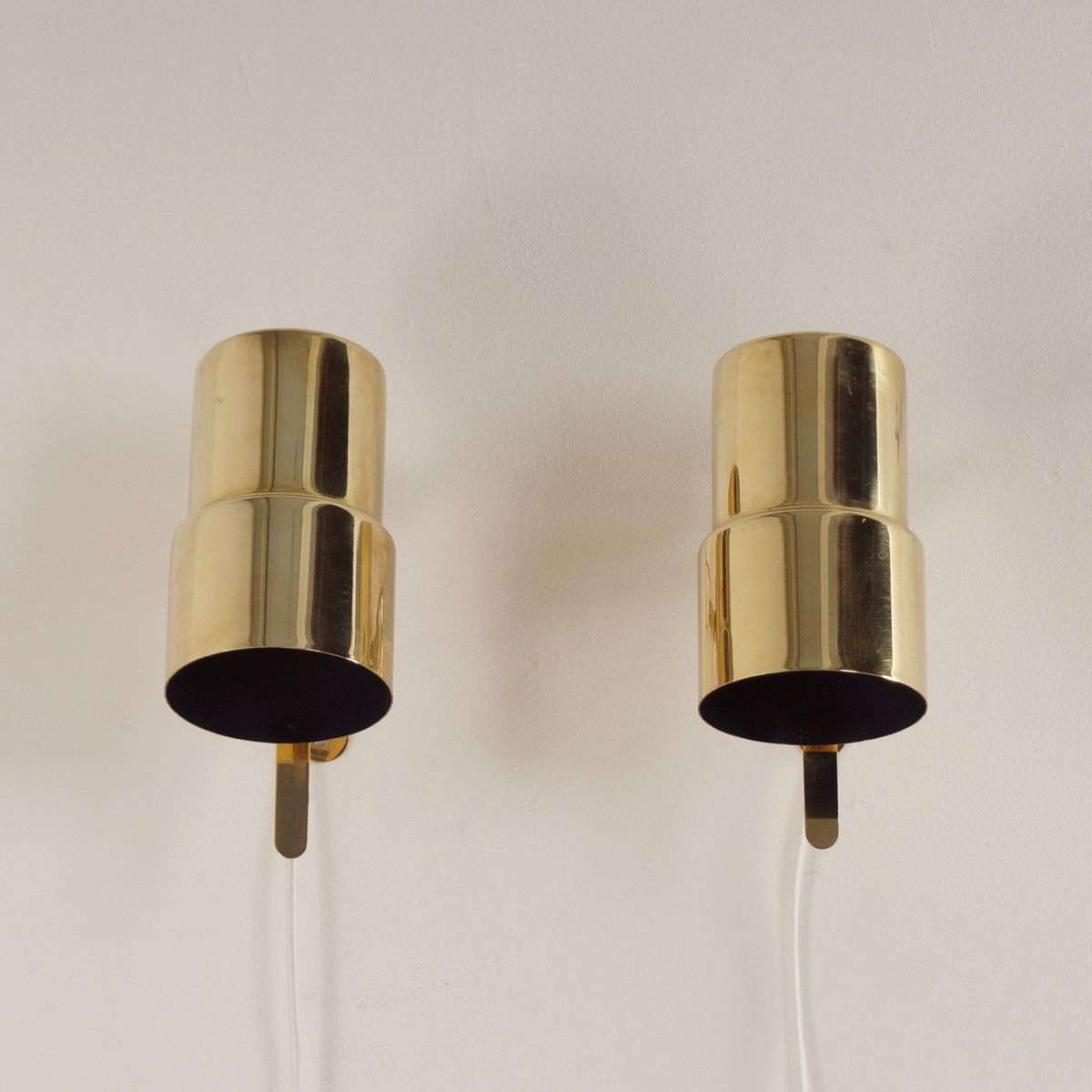 Wall Lamps Brass : Brass Wall Lamps from Hans Agne Jakobsson AB, 1970s, Set of 2 for sale at Pamono