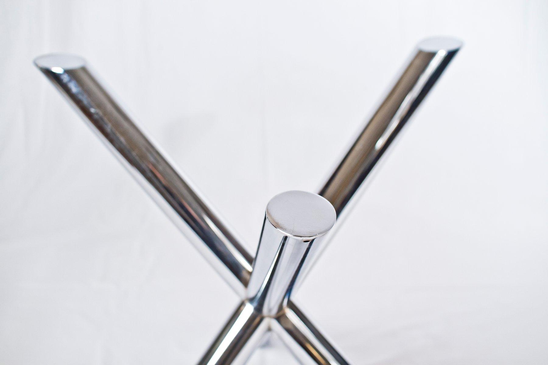 vintage chrom glas esstisch 1970er bei pamono kaufen. Black Bedroom Furniture Sets. Home Design Ideas