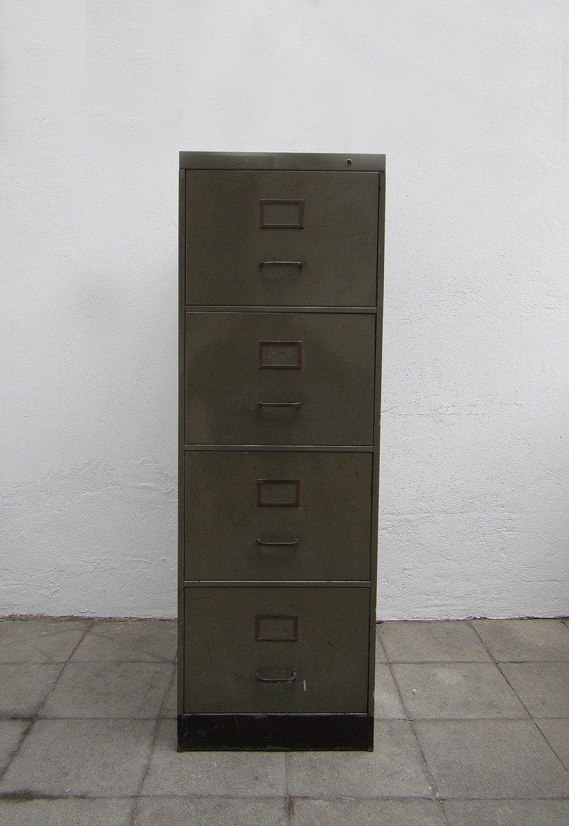 Aktenschrank metall  Industrieller Metall Aktenschrank von Acior, 1950er bei Pamono kaufen