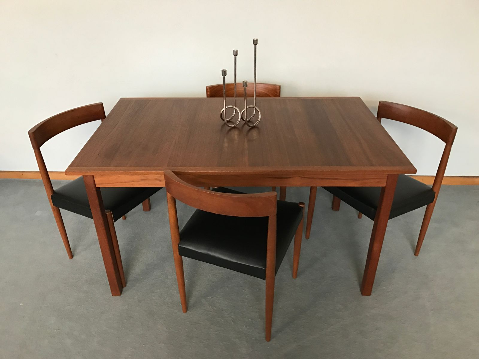 Vintage scandinavian teak dining table by nils jonsson for sale at pamono - Dining table scandinavian ...