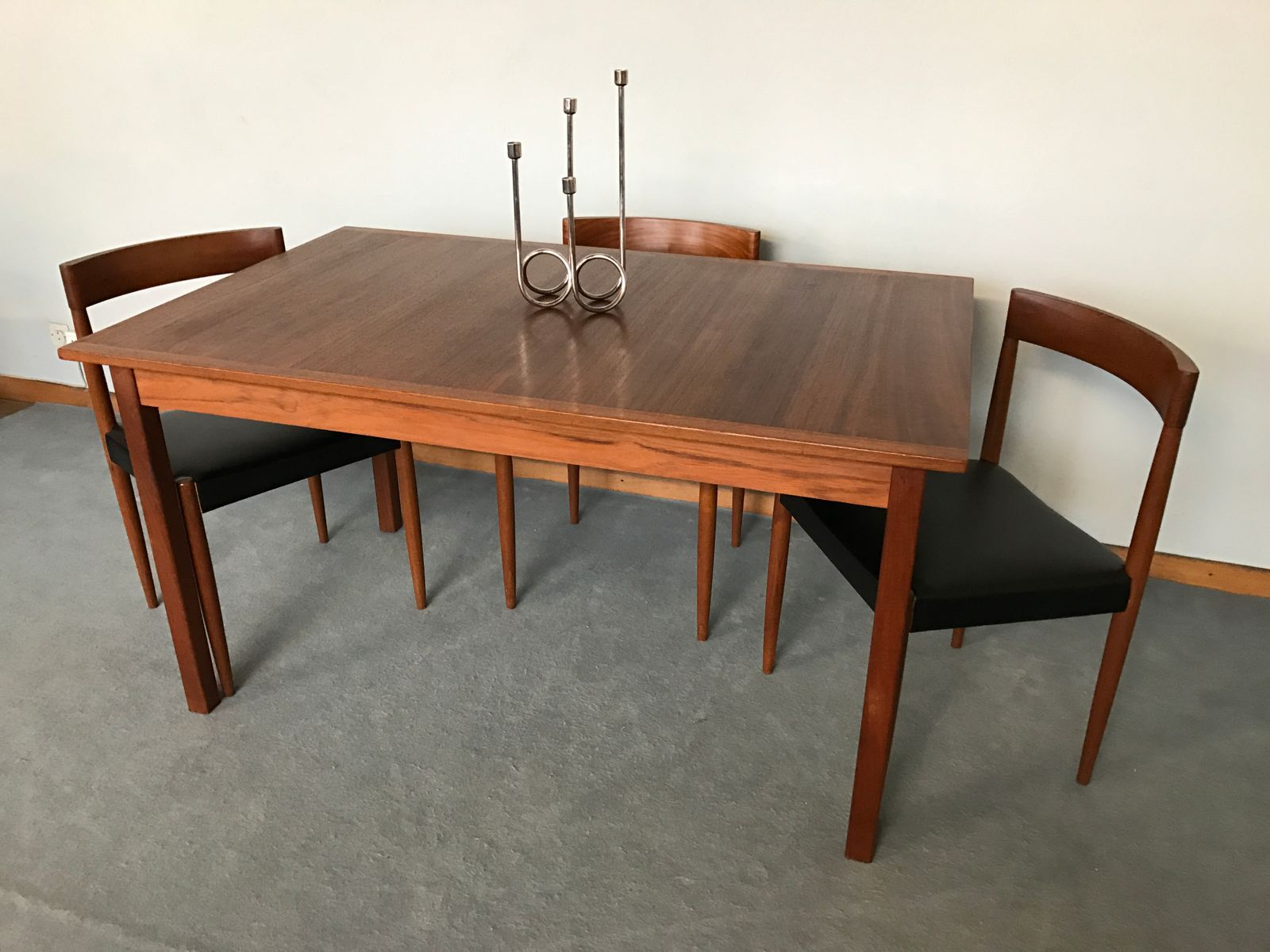Vintage Scandinavian Teak Dining Table By Nils Jonsson