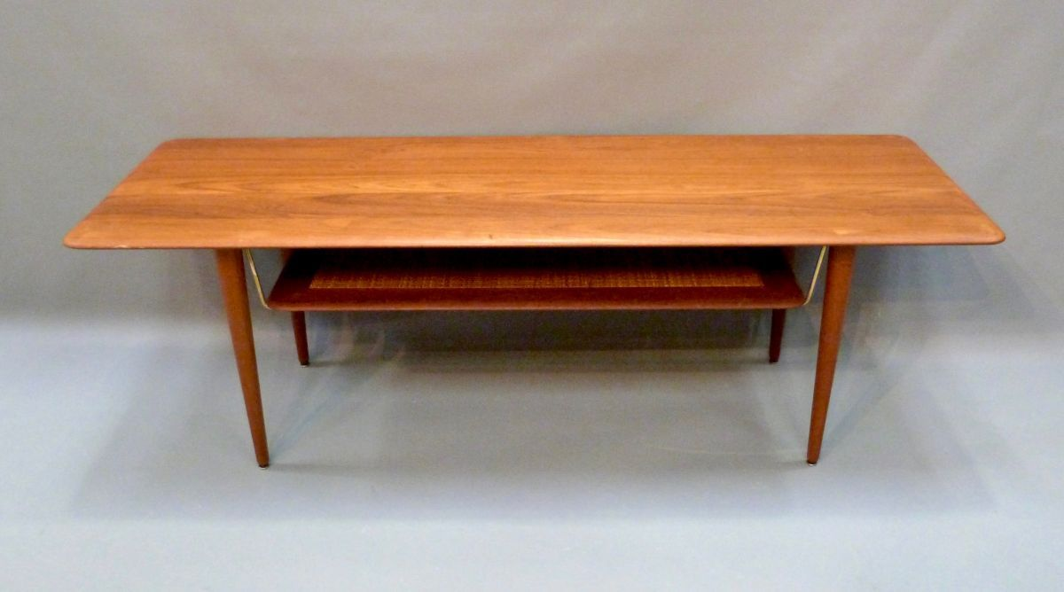Teak coffee table by peter hvidt for france son 1960s for sale teak coffee table by peter hvidt for france son 1960s geotapseo Gallery