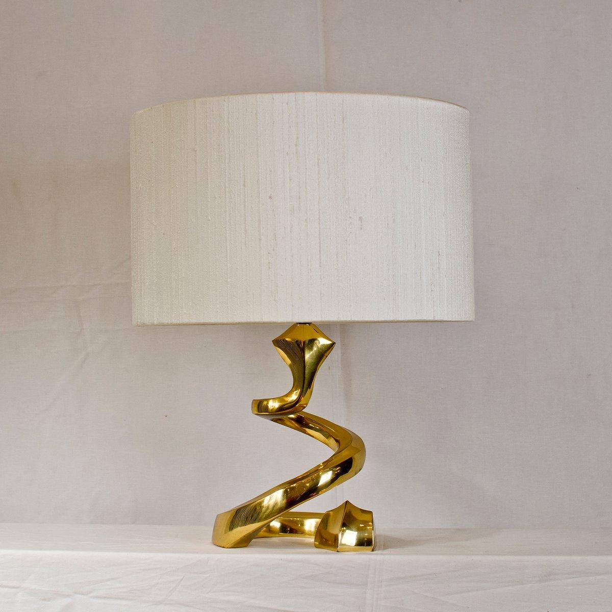 franz sische schlangen messing lampe 1970er bei pamono kaufen. Black Bedroom Furniture Sets. Home Design Ideas