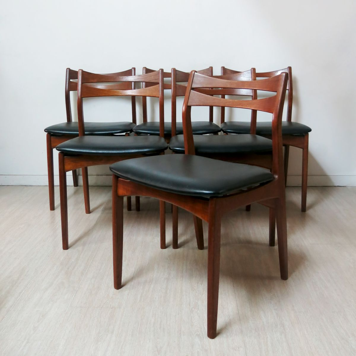 danish dining chairs by christian linneberg 1960s set of 6 for sale