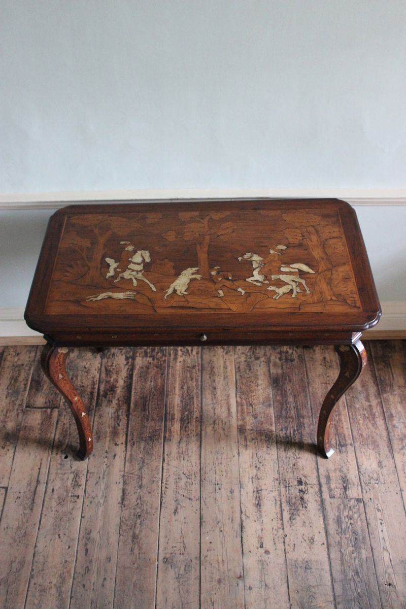 Antique Italian Occasional Table With Marquetry For Sale At Pamono